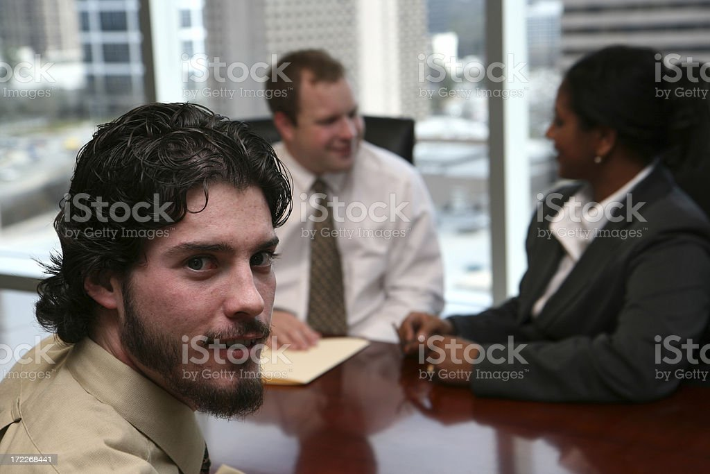 Man in meeting royalty-free stock photo