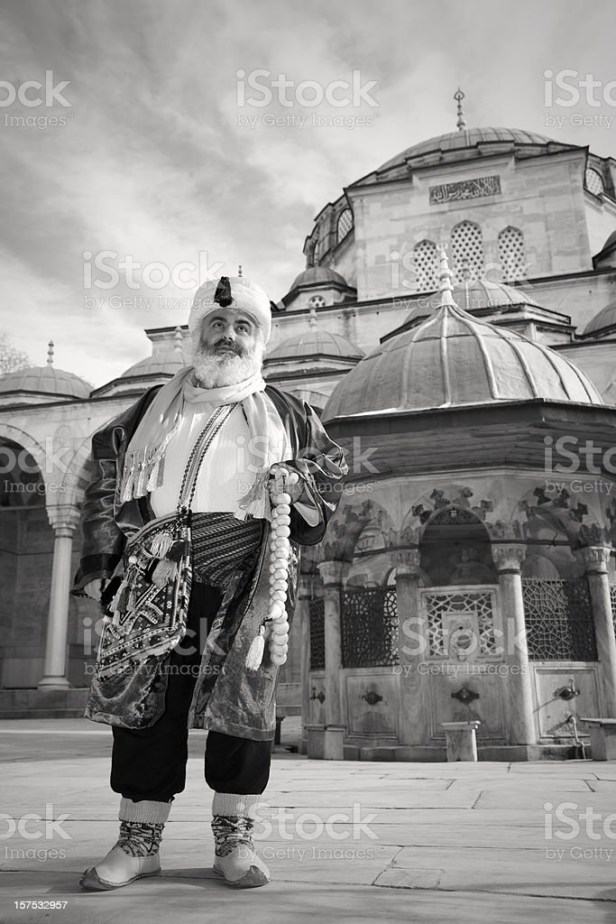 Man in Mosque stock photo