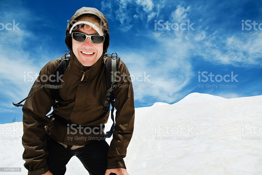 Man in mountains royalty-free stock photo