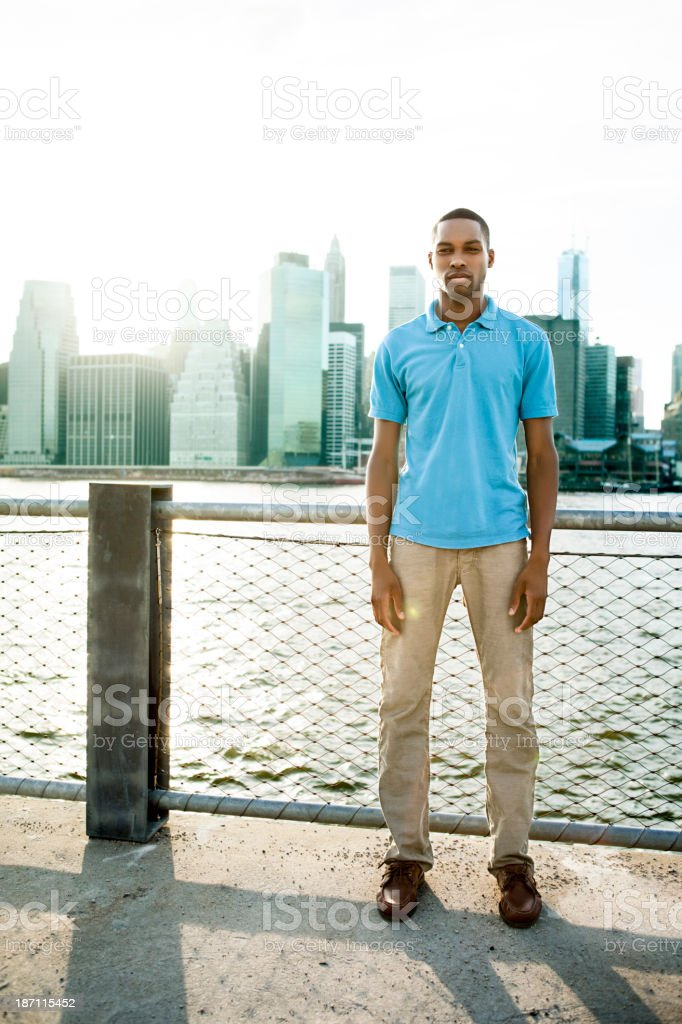 Man in New York City royalty-free stock photo
