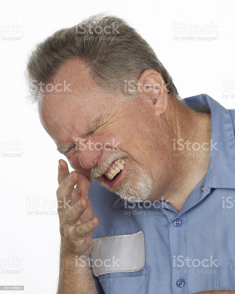 Man in Pain stock photo