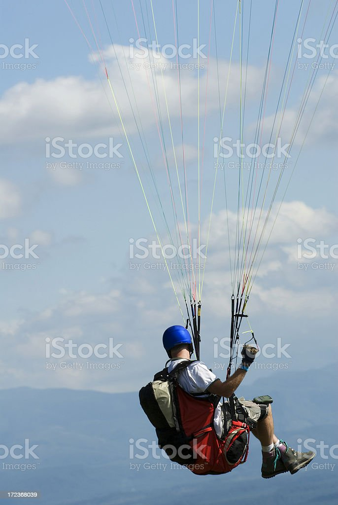 Man in Paraglider royalty-free stock photo