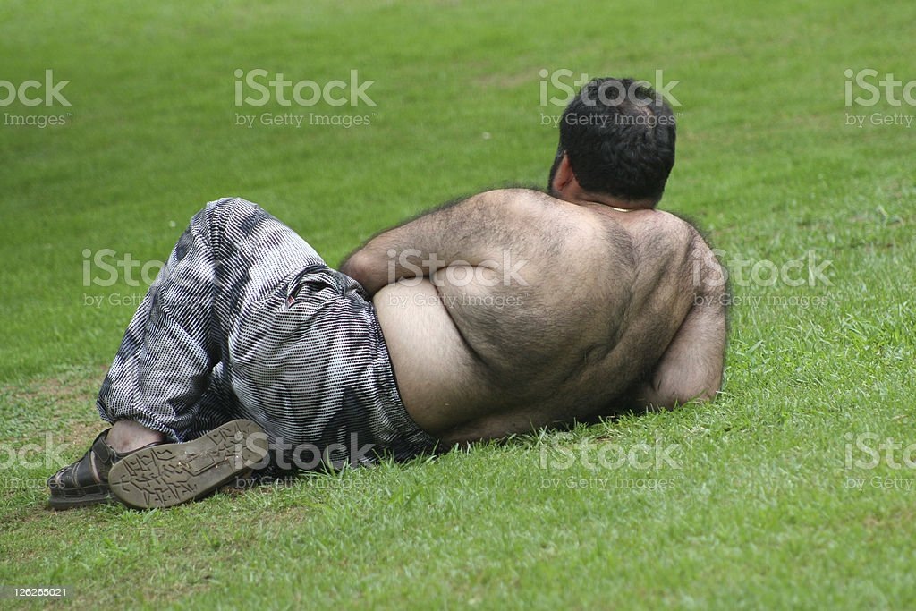 Man in Park royalty-free stock photo