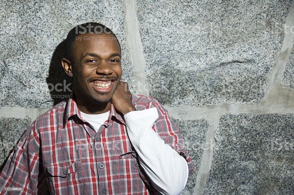 Man in Plaid (series) royalty-free stock photo