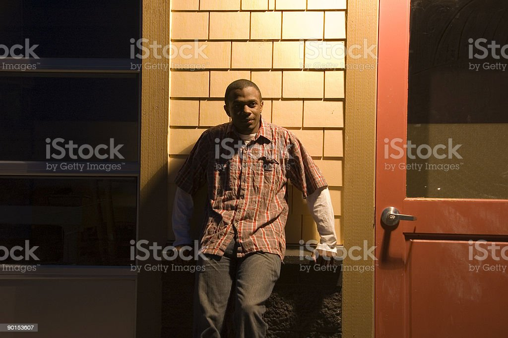 Man in Plaid (series) stock photo