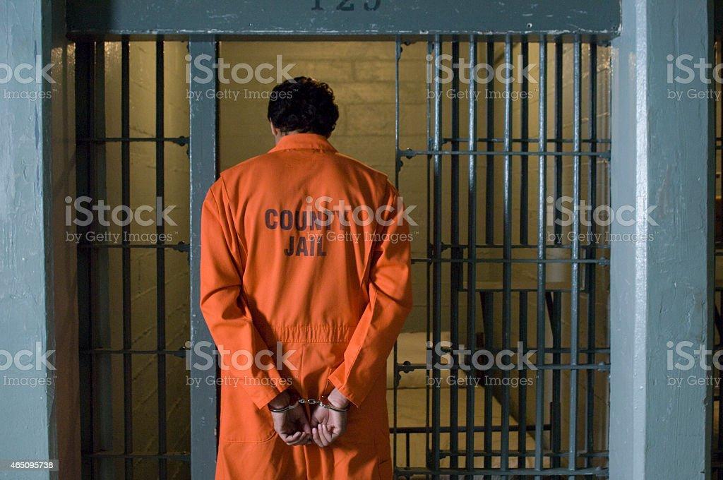 Man in prison stock photo