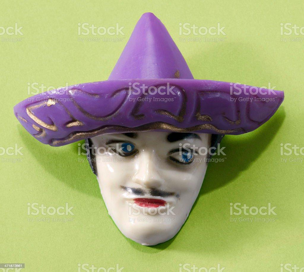 Man in Purple Hat royalty-free stock photo
