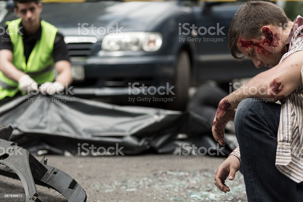 Man in shock stock photo