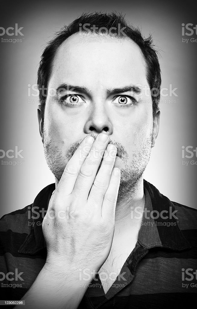 Man In Shock Portrait royalty-free stock photo