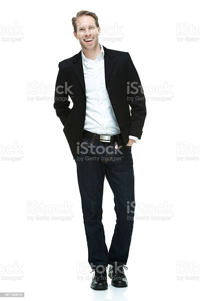 Man in smart casual stock photo