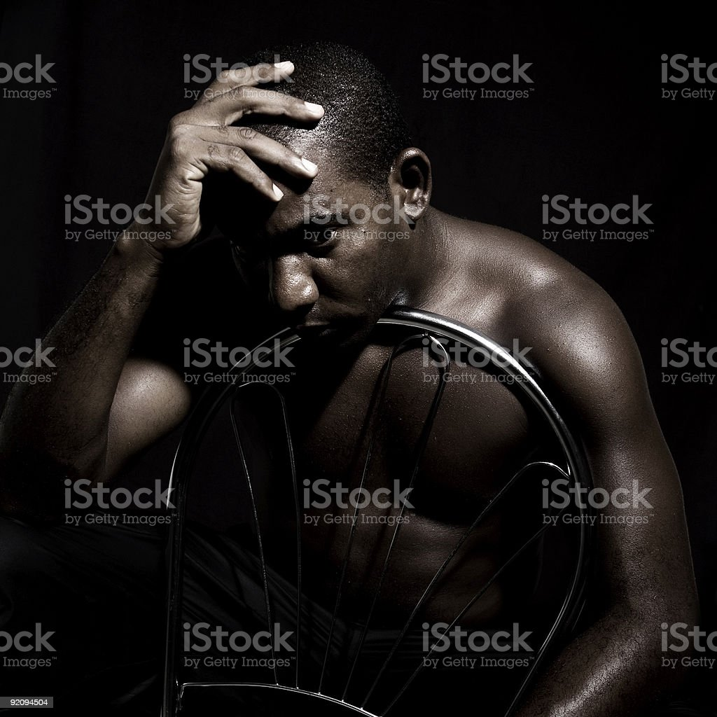Man in sorrow royalty-free stock photo