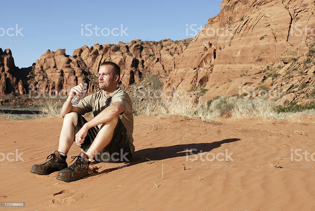 Man in southern Utah royalty-free stock photo