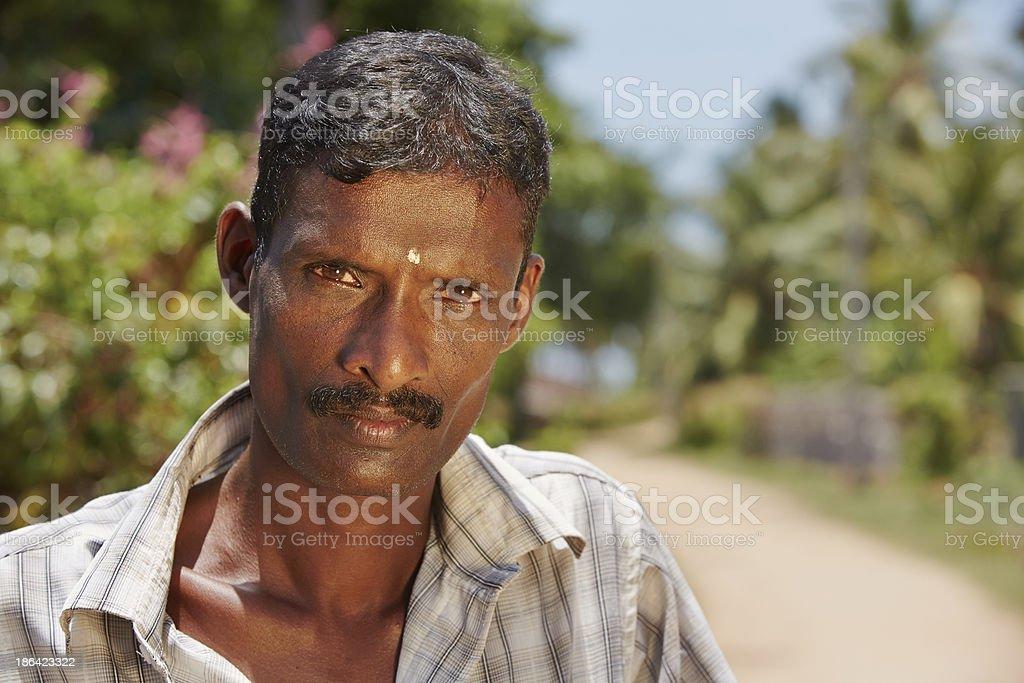 Man in Sri Lanka stock photo