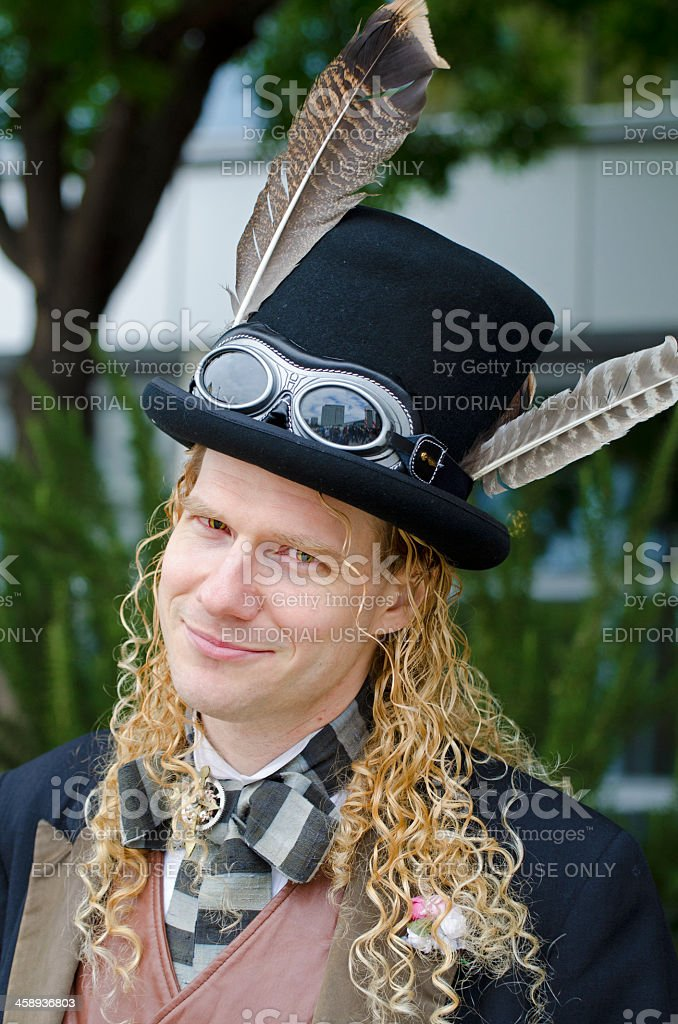 man in steampunk royalty-free stock photo