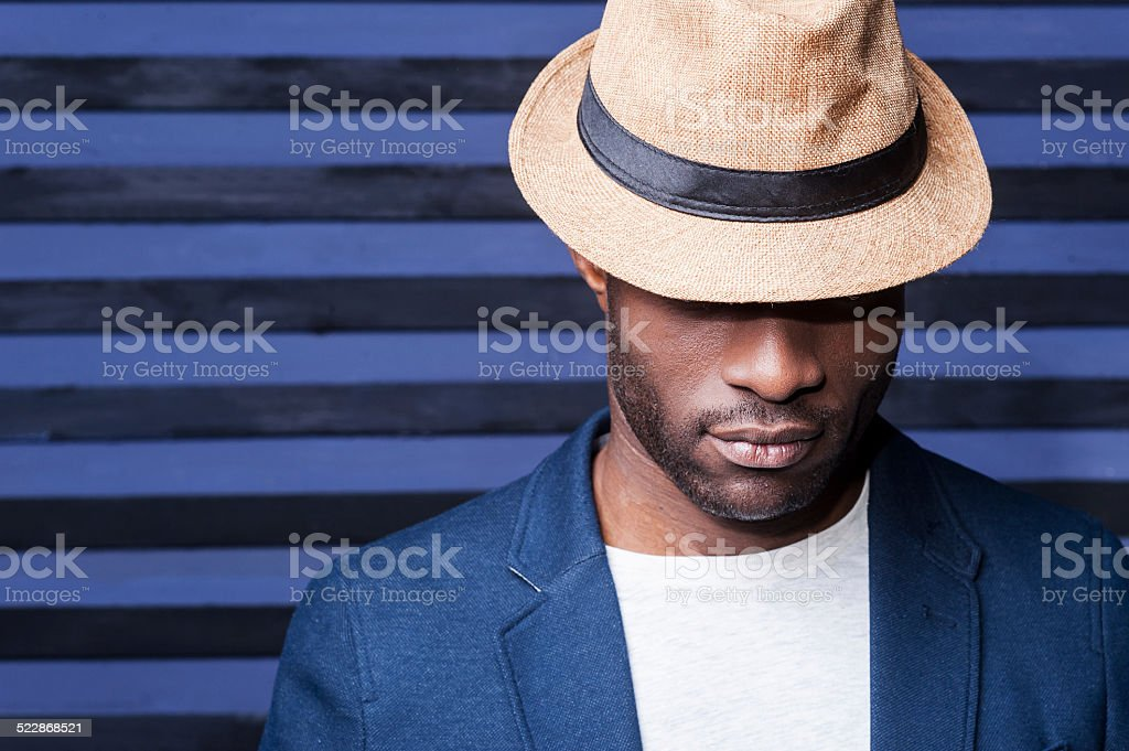Man in style. stock photo