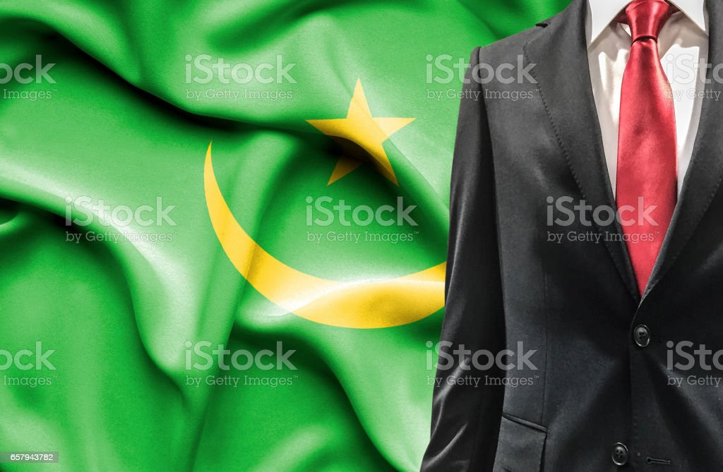 Man in suit from Mauritania stock photo