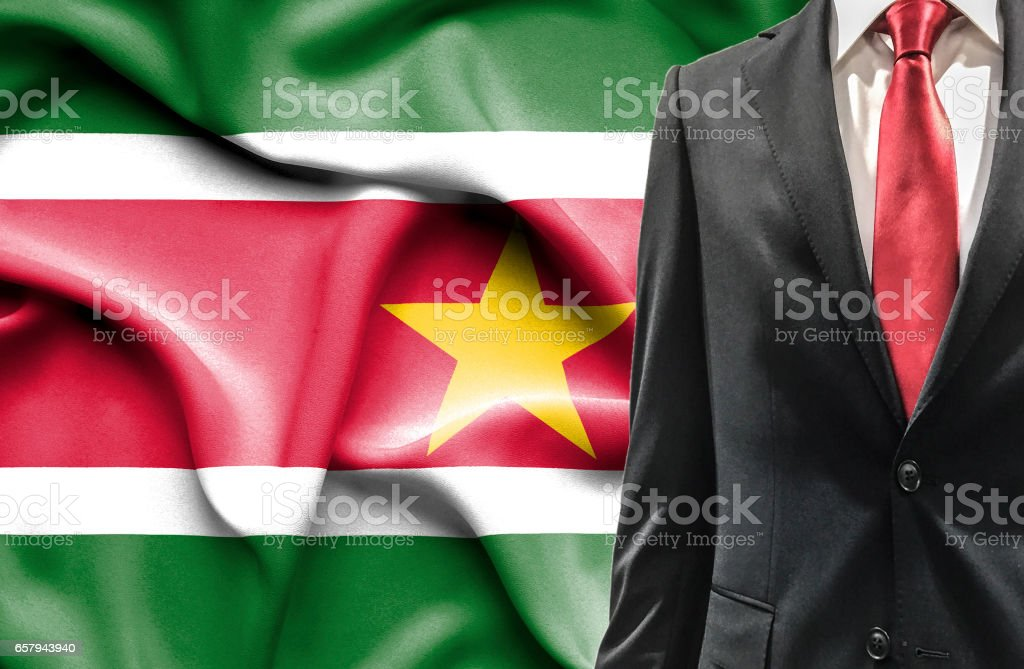 Man in suit from Suriname stock photo