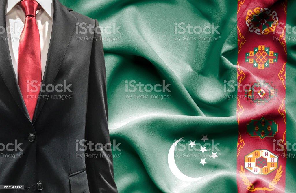 Man in suit from Turkmenistan stock photo