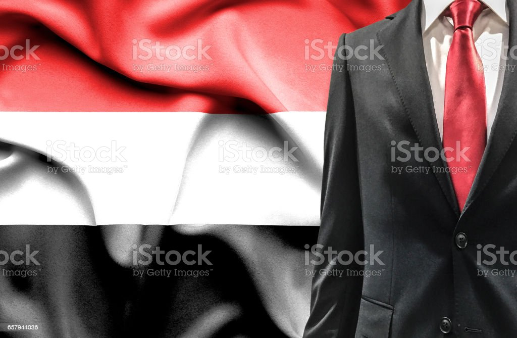 Man in suit from Yemen stock photo