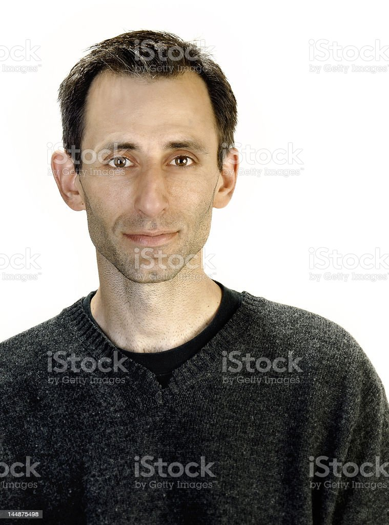 Man in sweater stock photo