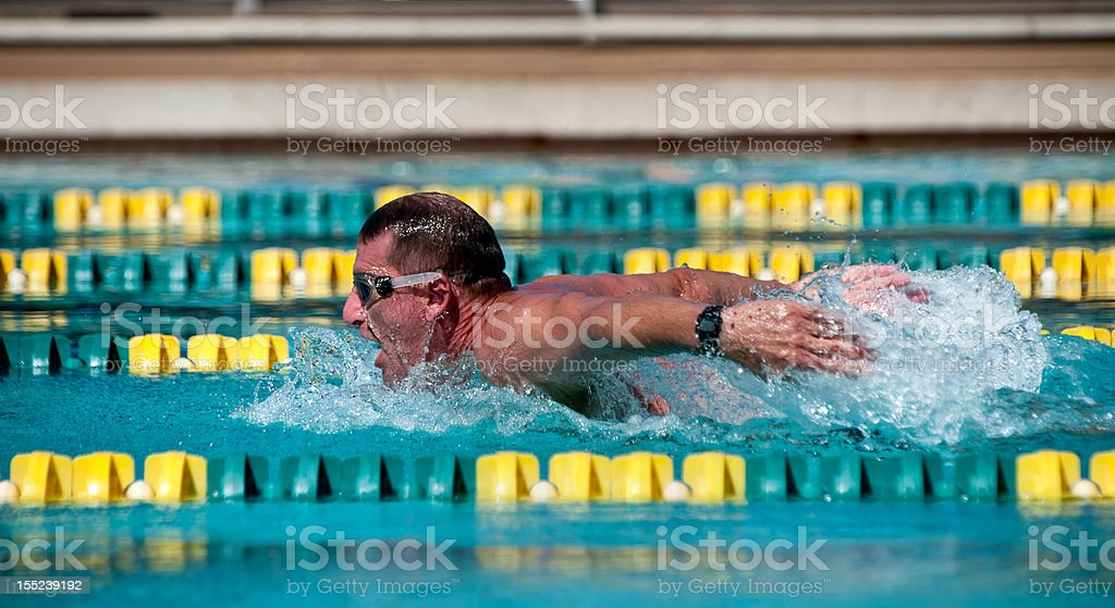 Man in Swim Competition royalty-free stock photo