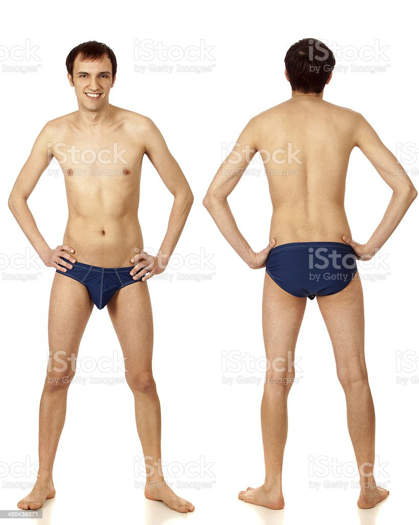 Man in Swimwear royalty-free stock photo