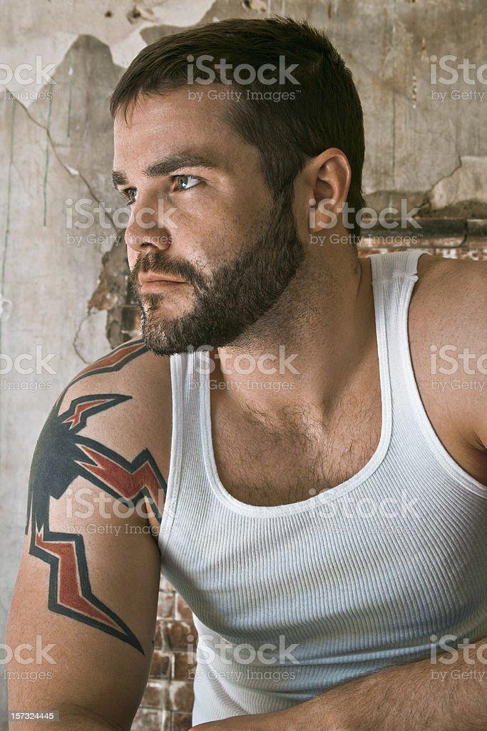 Man in Tanktop stock photo