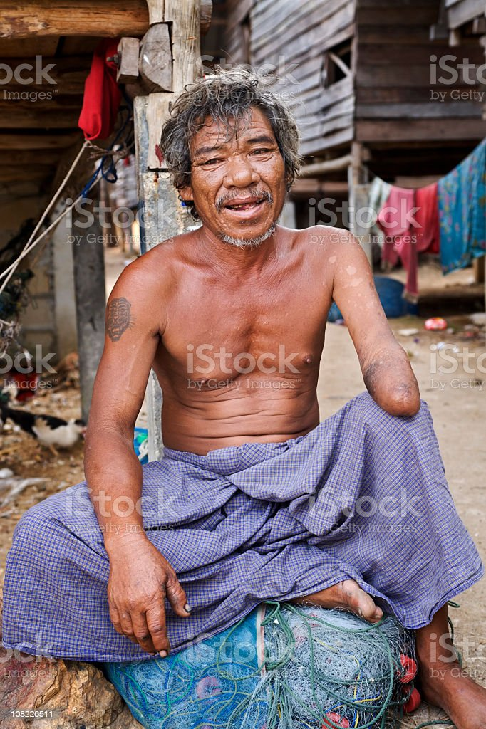 Man in Thailand stock photo