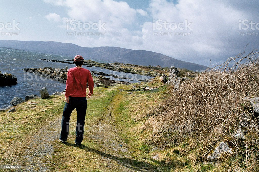 Man in the country royalty-free stock photo