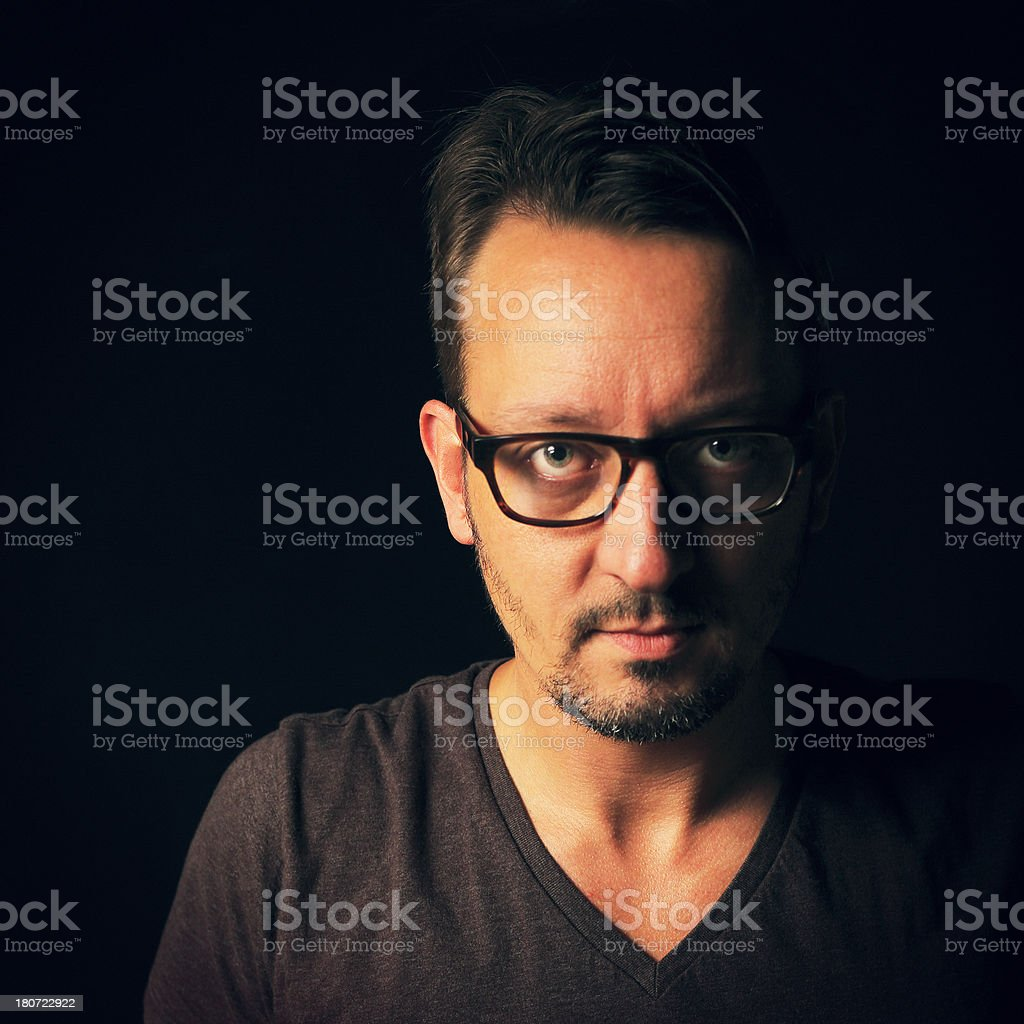 Man in the Darkness royalty-free stock photo