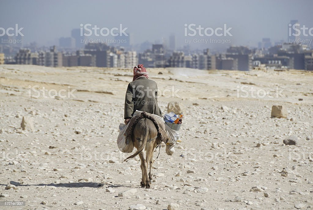 Man in the desert stock photo