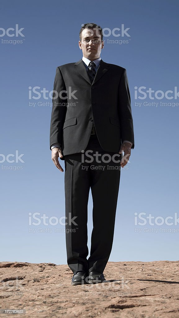 Man in the Desert royalty-free stock photo