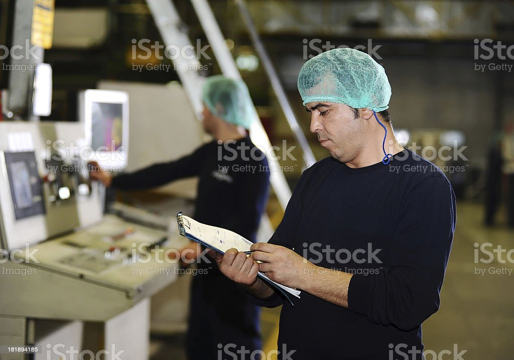 Man in the factory royalty-free stock photo