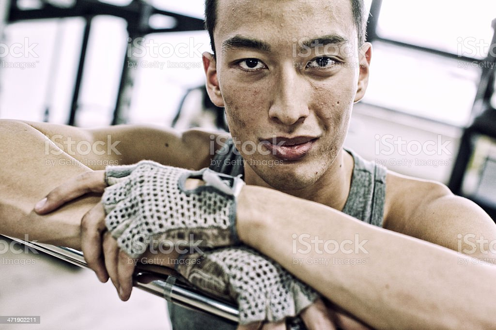Man in the gym royalty-free stock photo