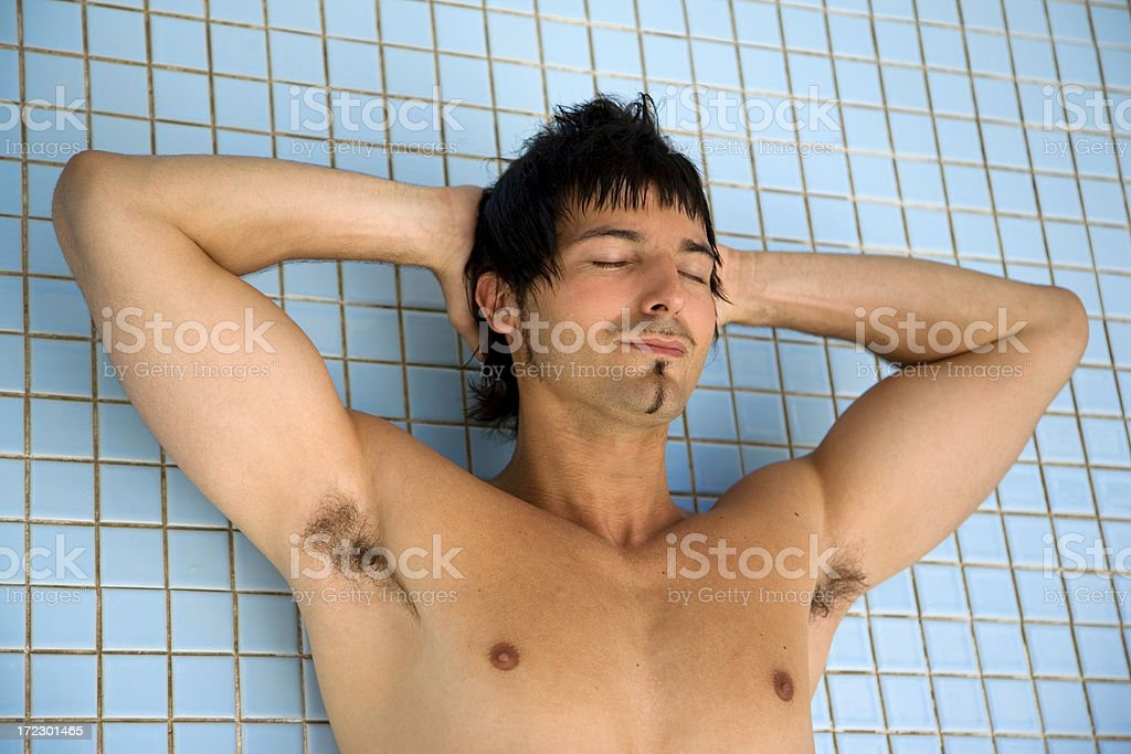 Man in the Pool royalty-free stock photo