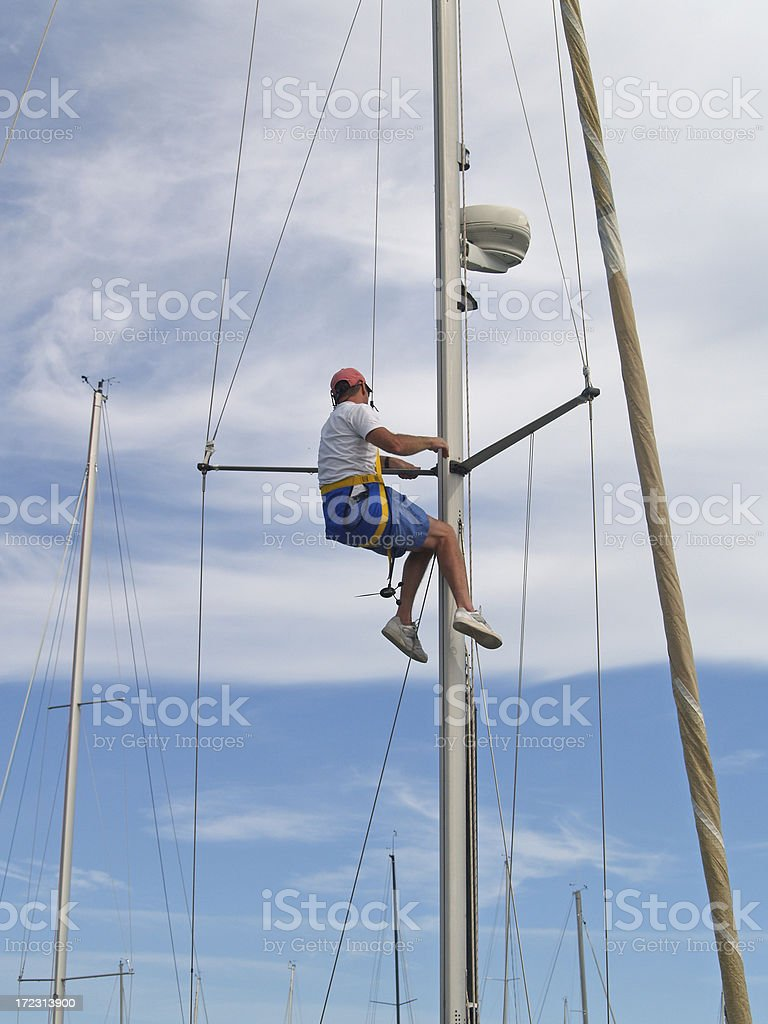 Man In the Rigging royalty-free stock photo