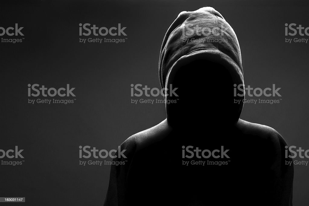 Man In The Shadow stock photo