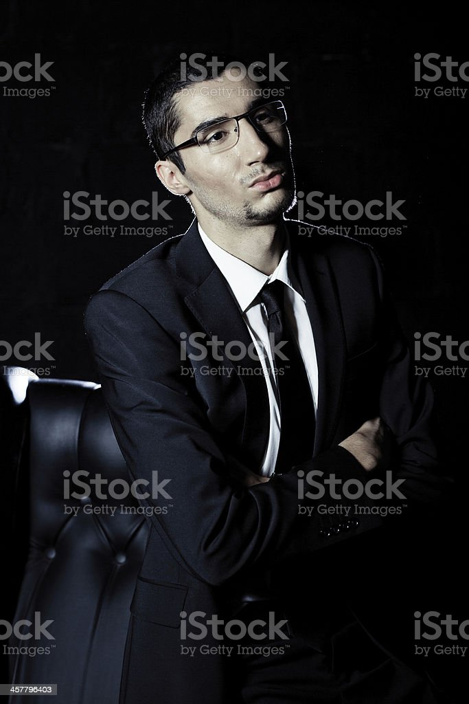 Man in the suit royalty-free stock photo