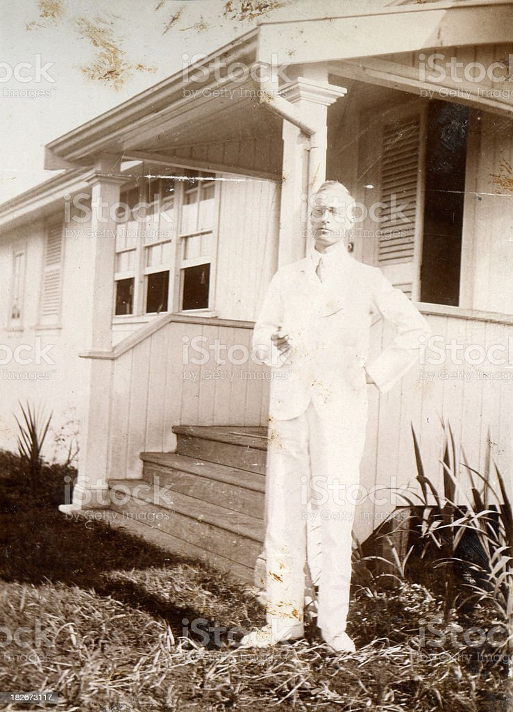 Man in the white suit royalty-free stock photo