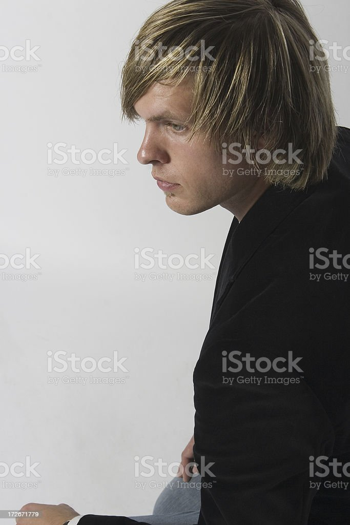 Man in Thought royalty-free stock photo