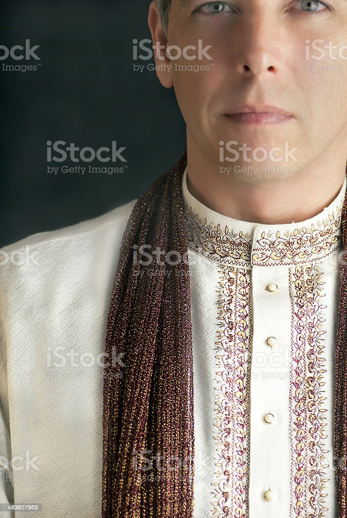 Man in Traditional Indian Clothing stock photo