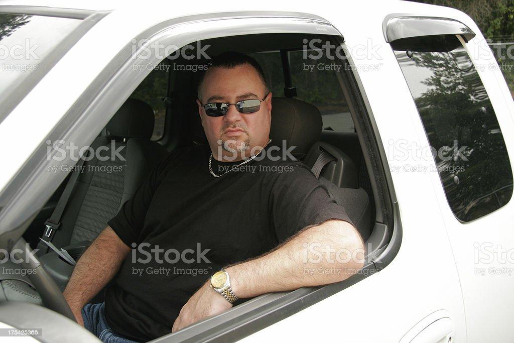 Man in Truck stock photo