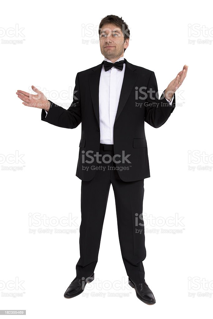 Man in Tuxedo stock photo