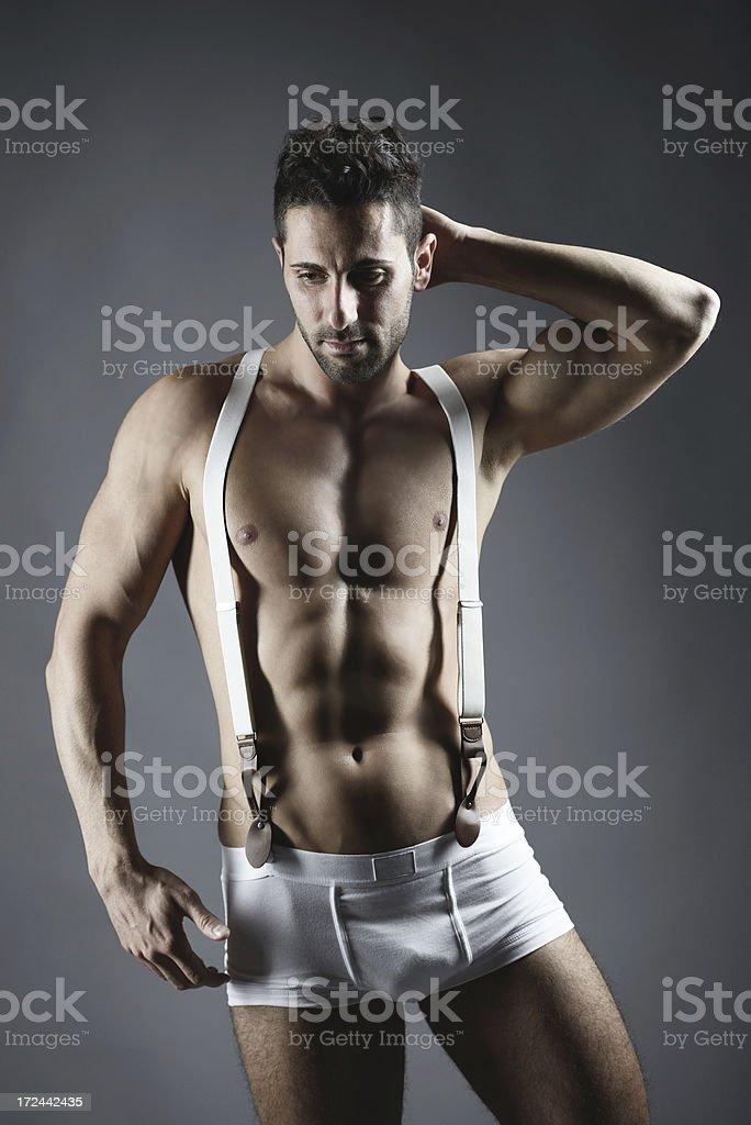 Man in underwear royalty-free stock photo