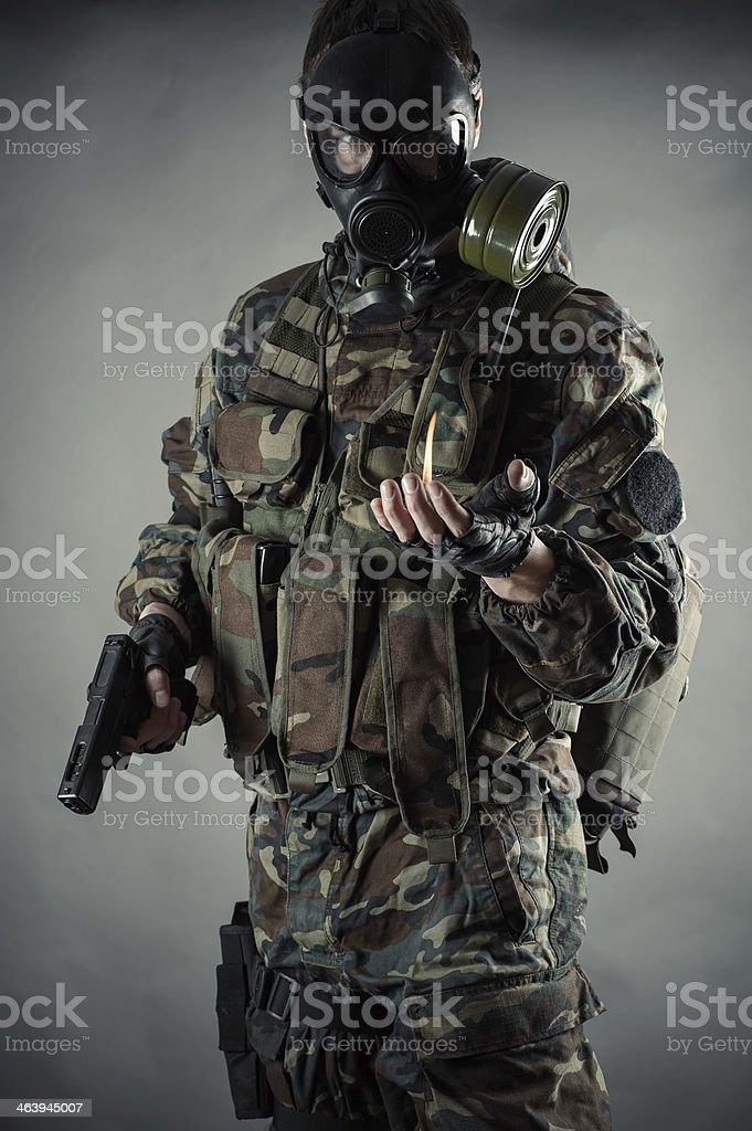 man in uniform royalty-free stock photo
