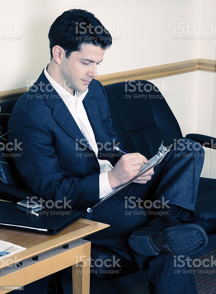 Man in waiting room royalty-free stock photo