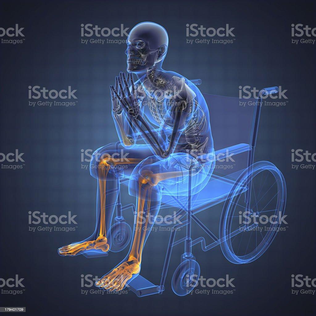 Man in wheelchair royalty-free stock photo