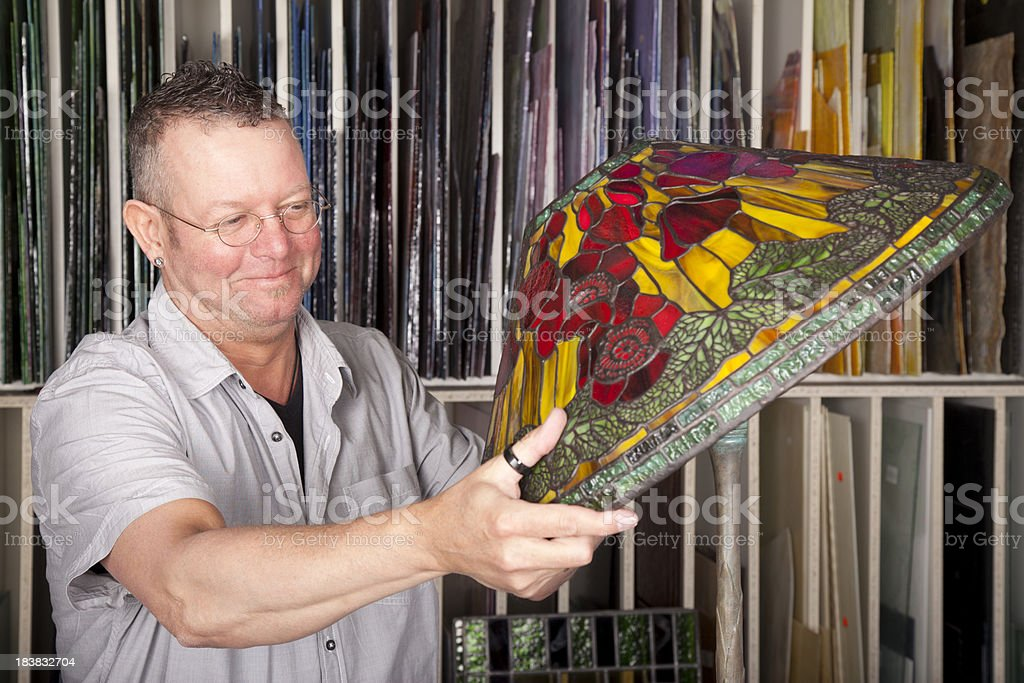 Man is busy with his hobby. royalty-free stock photo