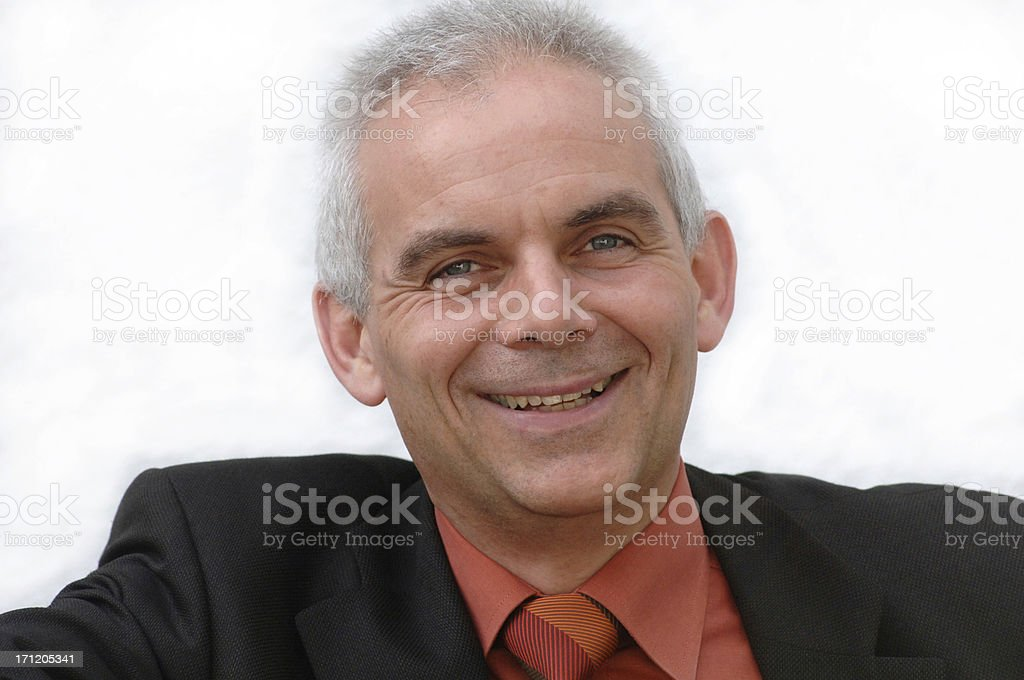 Man is laughing stock photo