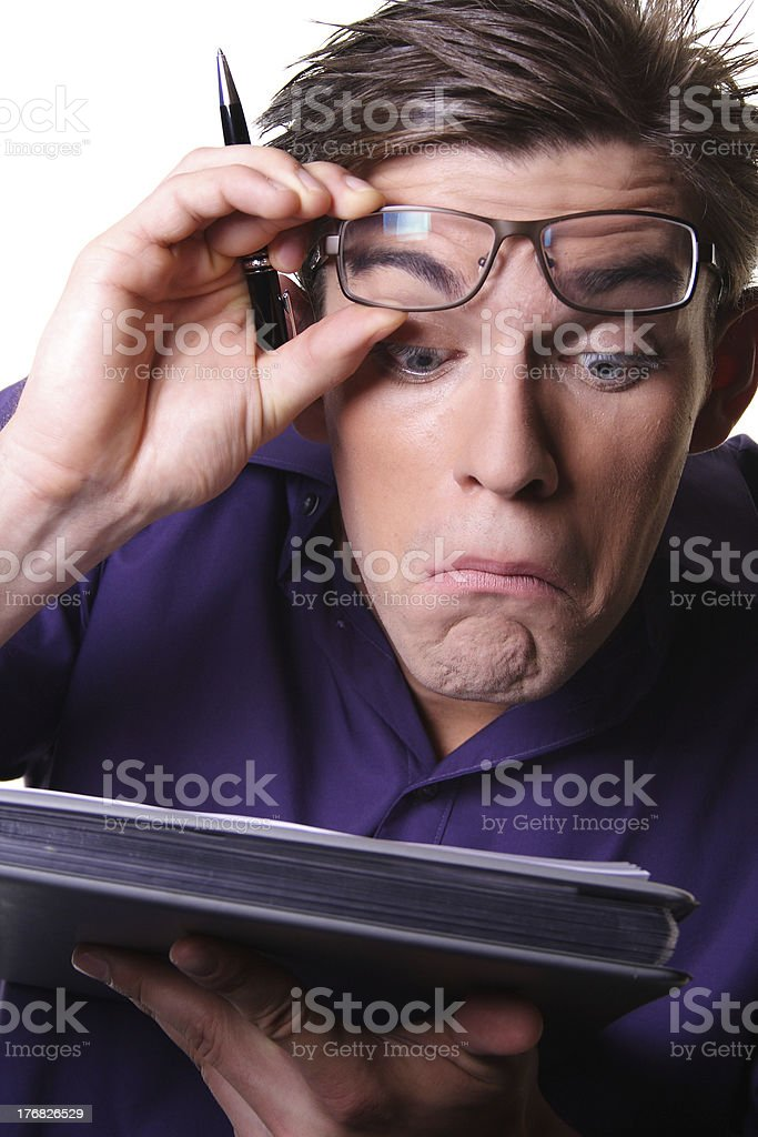 man is reading stock photo